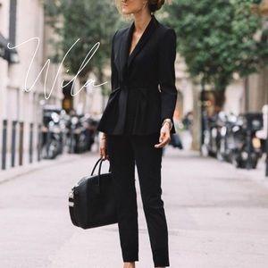 Blazer pantsuit bag pants black suit 805298